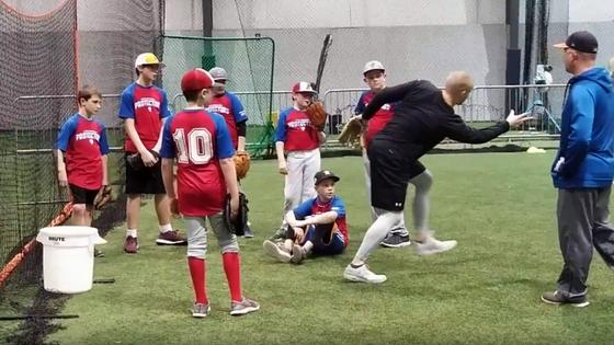 Youth baseball practice