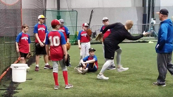 Youth baseball practice